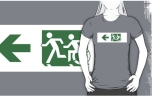 Accessible Exit Sign Project Wheelchair Wheelie Running Man Symbol Means of Egress Icon Disability Emergency Evacuation Fire Safety Adult T-shirt 142