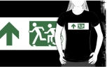 Accessible Exit Sign Project Wheelchair Wheelie Running Man Symbol Means of Egress Icon Disability Emergency Evacuation Fire Safety Adult T-shirt 158