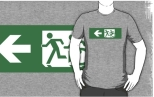 Accessible Exit Sign Project Wheelchair Wheelie Running Man Symbol Means of Egress Icon Disability Emergency Evacuation Fire Safety Adult T-shirt 168