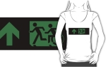 Accessible Exit Sign Project Wheelchair Wheelie Running Man Symbol Means of Egress Icon Disability Emergency Evacuation Fire Safety Adult T-shirt 181