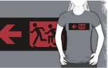 Accessible Exit Sign Project Wheelchair Wheelie Running Man Symbol Means of Egress Icon Disability Emergency Evacuation Fire Safety Adult T-shirt 189