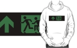 Accessible Exit Sign Project Wheelchair Wheelie Running Man Symbol Means of Egress Icon Disability Emergency Evacuation Fire Safety Adult T-shirt 193