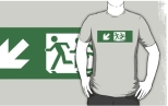 Accessible Exit Sign Project Wheelchair Wheelie Running Man Symbol Means of Egress Icon Disability Emergency Evacuation Fire Safety Adult T-shirt 194
