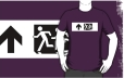 Accessible Exit Sign Project Wheelchair Wheelie Running Man Symbol Means of Egress Icon Disability Emergency Evacuation Fire Safety Adult T-shirt 20