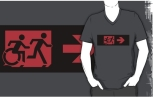 Accessible Exit Sign Project Wheelchair Wheelie Running Man Symbol Means of Egress Icon Disability Emergency Evacuation Fire Safety Adult T-shirt 212