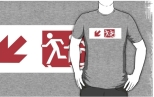 Accessible Exit Sign Project Wheelchair Wheelie Running Man Symbol Means of Egress Icon Disability Emergency Evacuation Fire Safety Adult T-shirt 239