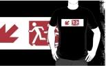 Accessible Exit Sign Project Wheelchair Wheelie Running Man Symbol Means of Egress Icon Disability Emergency Evacuation Fire Safety Adult T-shirt 243
