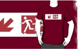 Accessible Exit Sign Project Wheelchair Wheelie Running Man Symbol Means of Egress Icon Disability Emergency Evacuation Fire Safety Adult T-shirt 244