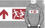 Accessible Exit Sign Project Wheelchair Wheelie Running Man Symbol Means of Egress Icon Disability Emergency Evacuation Fire Safety Adult T-shirt 263