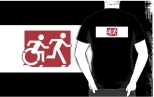 Accessible Exit Sign Project Wheelchair Wheelie Running Man Symbol Means of Egress Icon Disability Emergency Evacuation Fire Safety Adult T-shirt 267