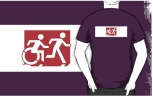 Accessible Exit Sign Project Wheelchair Wheelie Running Man Symbol Means of Egress Icon Disability Emergency Evacuation Fire Safety Adult T-shirt 271