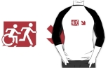 Accessible Exit Sign Project Wheelchair Wheelie Running Man Symbol Means of Egress Icon Disability Emergency Evacuation Fire Safety Adult T-shirt 281