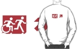 Accessible Exit Sign Project Wheelchair Wheelie Running Man Symbol Means of Egress Icon Disability Emergency Evacuation Fire Safety Adult T-shirt 284