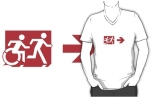 Accessible Exit Sign Project Wheelchair Wheelie Running Man Symbol Means of Egress Icon Disability Emergency Evacuation Fire Safety Adult T-shirt 297