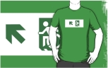 Accessible Exit Sign Project Wheelchair Wheelie Running Man Symbol Means of Egress Icon Disability Emergency Evacuation Fire Safety Adult t-shirt 30