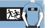 Accessible Exit Sign Project Wheelchair Wheelie Running Man Symbol Means of Egress Icon Disability Emergency Evacuation Fire Safety Adult T-shirt 311