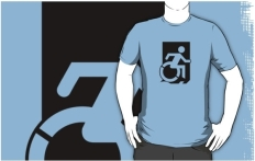 Accessible Exit Sign Project Wheelchair Wheelie Running Man Symbol Means of Egress Icon Disability Emergency Evacuation Fire Safety Adult t-shirt 31