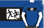 Accessible Exit Sign Project Wheelchair Wheelie Running Man Symbol Means of Egress Icon Disability Emergency Evacuation Fire Safety Adult T-shirt 312