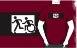 Accessible Exit Sign Project Wheelchair Wheelie Running Man Symbol Means of Egress Icon Disability Emergency Evacuation Fire Safety Adult T-shirt 314