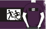 Accessible Exit Sign Project Wheelchair Wheelie Running Man Symbol Means of Egress Icon Disability Emergency Evacuation Fire Safety Adult T-shirt 315