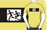 Accessible Exit Sign Project Wheelchair Wheelie Running Man Symbol Means of Egress Icon Disability Emergency Evacuation Fire Safety Adult T-shirt 321