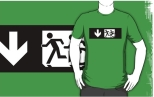 Accessible Exit Sign Project Wheelchair Wheelie Running Man Symbol Means of Egress Icon Disability Emergency Evacuation Fire Safety Adult T-shirt 323