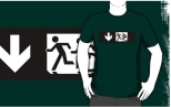 Accessible Exit Sign Project Wheelchair Wheelie Running Man Symbol Means of Egress Icon Disability Emergency Evacuation Fire Safety Adult T-shirt 324