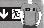 Accessible Exit Sign Project Wheelchair Wheelie Running Man Symbol Means of Egress Icon Disability Emergency Evacuation Fire Safety Adult T-shirt 327
