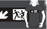 Accessible Exit Sign Project Wheelchair Wheelie Running Man Symbol Means of Egress Icon Disability Emergency Evacuation Fire Safety Adult T-shirt 332