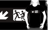 Accessible Exit Sign Project Wheelchair Wheelie Running Man Symbol Means of Egress Icon Disability Emergency Evacuation Fire Safety Adult T-shirt 333