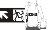 Accessible Exit Sign Project Wheelchair Wheelie Running Man Symbol Means of Egress Icon Disability Emergency Evacuation Fire Safety Adult T-shirt 337