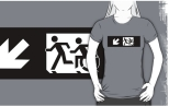 Accessible Exit Sign Project Wheelchair Wheelie Running Man Symbol Means of Egress Icon Disability Emergency Evacuation Fire Safety Adult T-shirt 341