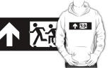 Accessible Exit Sign Project Wheelchair Wheelie Running Man Symbol Means of Egress Icon Disability Emergency Evacuation Fire Safety Adult T-shirt 349