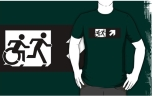 Accessible Exit Sign Project Wheelchair Wheelie Running Man Symbol Means of Egress Icon Disability Emergency Evacuation Fire Safety Adult T-shirt 379