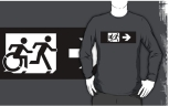Accessible Exit Sign Project Wheelchair Wheelie Running Man Symbol Means of Egress Icon Disability Emergency Evacuation Fire Safety Adult T-shirt 387