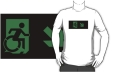 Accessible Exit Sign Project Wheelchair Wheelie Running Man Symbol Means of Egress Icon Disability Emergency Evacuation Fire Safety Adult t-shirt 41