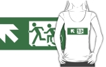 Accessible Exit Sign Project Wheelchair Wheelie Running Man Symbol Means of Egress Icon Disability Emergency Evacuation Fire Safety Adult T-shirt 418