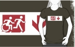 Accessible Exit Sign Project Wheelchair Wheelie Running Man Symbol Means of Egress Icon Disability Emergency Evacuation Fire Safety Adult T-shirt 429