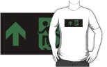Accessible Exit Sign Project Wheelchair Wheelie Running Man Symbol Means of Egress Icon Disability Emergency Evacuation Fire Safety Adult t-shirt 44