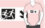 Accessible Exit Sign Project Wheelchair Wheelie Running Man Symbol Means of Egress Icon Disability Emergency Evacuation Fire Safety Adult T-shirt 45