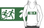 Accessible Exit Sign Project Wheelchair Wheelie Running Man Symbol Means of Egress Icon Disability Emergency Evacuation Fire Safety Adult T-shirt 451