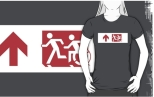 Accessible Exit Sign Project Wheelchair Wheelie Running Man Symbol Means of Egress Icon Disability Emergency Evacuation Fire Safety Adult T-shirt 453