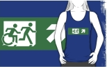 Accessible Exit Sign Project Wheelchair Wheelie Running Man Symbol Means of Egress Icon Disability Emergency Evacuation Fire Safety Adult T-shirt 455