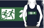 Accessible Exit Sign Project Wheelchair Wheelie Running Man Symbol Means of Egress Icon Disability Emergency Evacuation Fire Safety Adult T-shirt 456