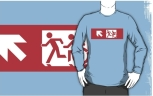 Accessible Exit Sign Project Wheelchair Wheelie Running Man Symbol Means of Egress Icon Disability Emergency Evacuation Fire Safety Adult T-shirt 498