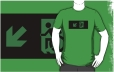 Accessible Exit Sign Project Wheelchair Wheelie Running Man Symbol Means of Egress Icon Disability Emergency Evacuation Fire Safety Adult t-shirt 51