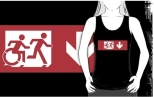 Accessible Exit Sign Project Wheelchair Wheelie Running Man Symbol Means of Egress Icon Disability Emergency Evacuation Fire Safety Adult T-shirt 523