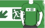 Accessible Exit Sign Project Wheelchair Wheelie Running Man Symbol Means of Egress Icon Disability Emergency Evacuation Fire Safety Adult T-shirt 604