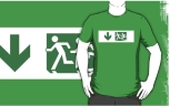 Accessible Exit Sign Project Wheelchair Wheelie Running Man Symbol Means of Egress Icon Disability Emergency Evacuation Fire Safety Adult T-shirt 606
