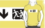Accessible Exit Sign Project Wheelchair Wheelie Running Man Symbol Means of Egress Icon Disability Emergency Evacuation Fire Safety Adult T-shirt 624